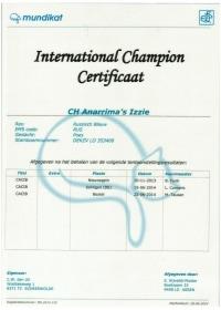 Internationaal kampioens certificaat Anarrima's Izzie.jpeg