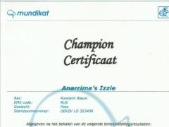 Kampioenscertificaat Anarrima's Izzie.jpg