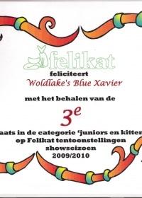Felikat onderscheiding showseizoen 2009-2010 Xavier.jpg
