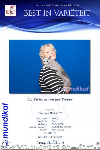 Victoria von der Weper wordt Best in Variëteit